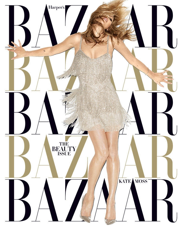 kate moss harpes bazaar may 2014 cover3 Kate Moss Shines for Harpers Bazaar May 2014 Cover by Terry Richardson
