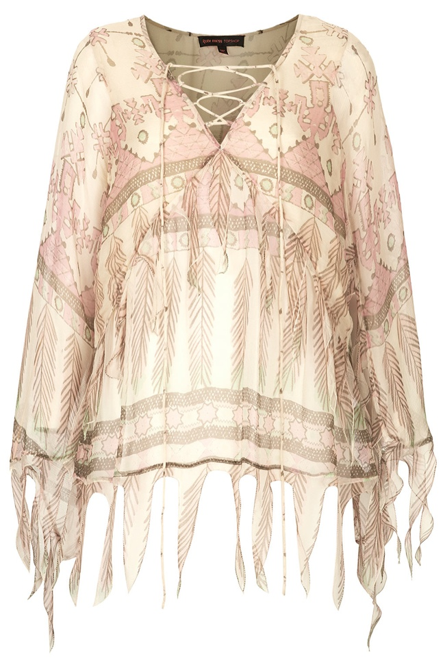 kate moss topshop tassel print blouse Its Here! The Kate Moss for Topshop Collection Has Arrived