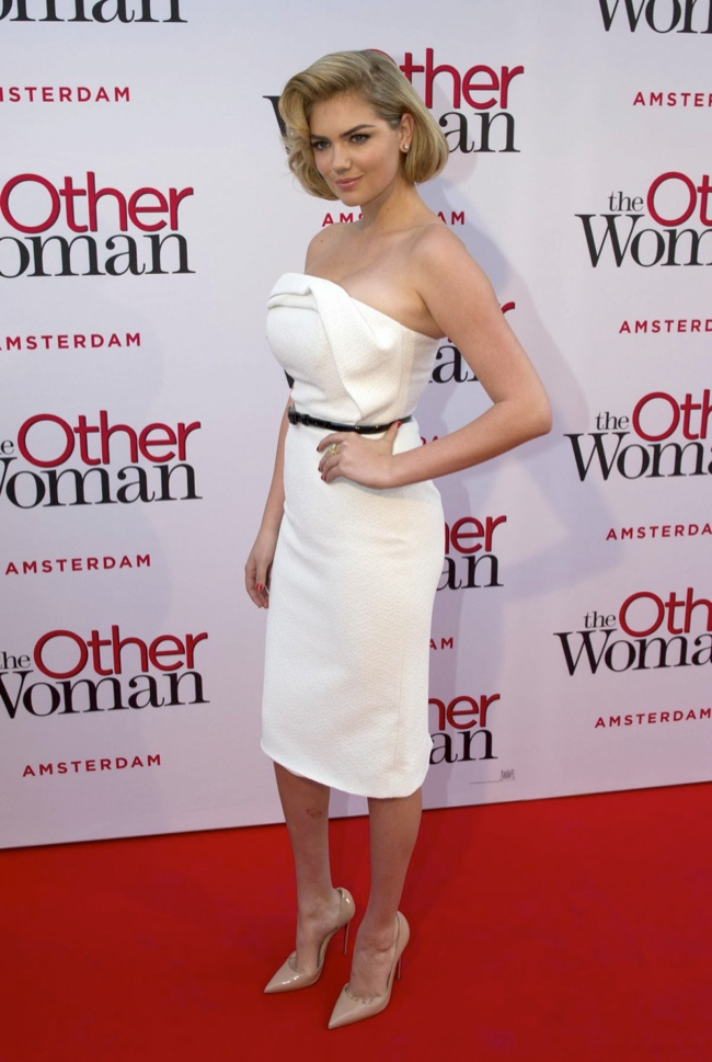 """Kate Upton Delivers Retro Glamour in Christian Siriano at """"The Other Woman"""" NL Premiere"""