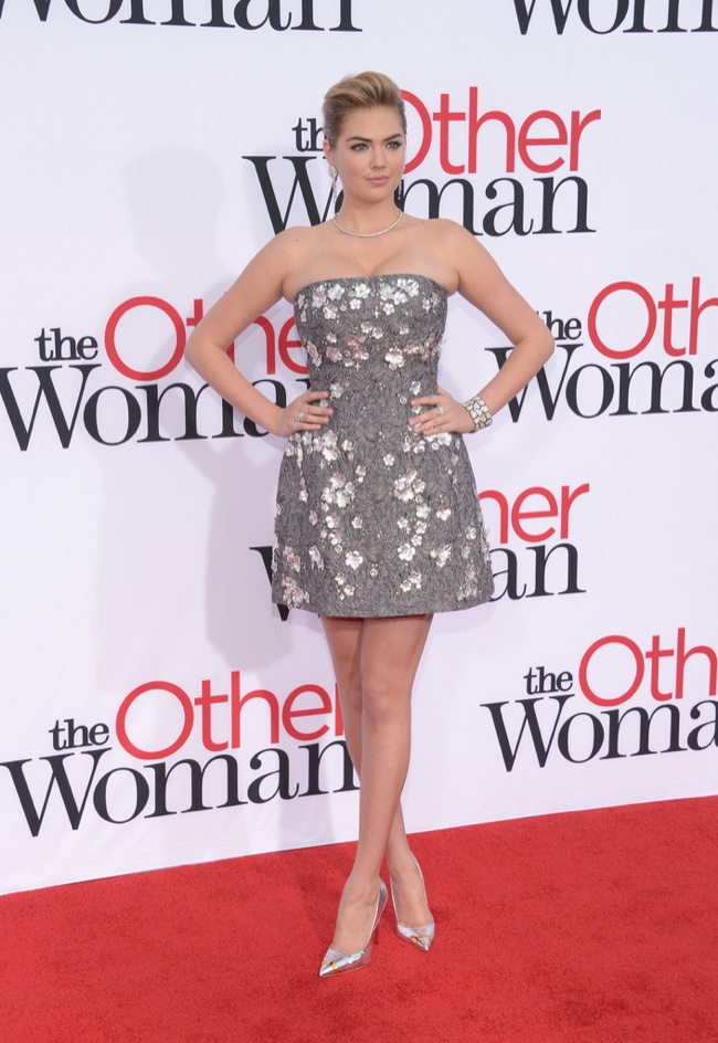 kate upton dolce gabbana dress1 Kate Upton Shines in Dolce & Gabbana at The Other Woman Los Angeles Premiere