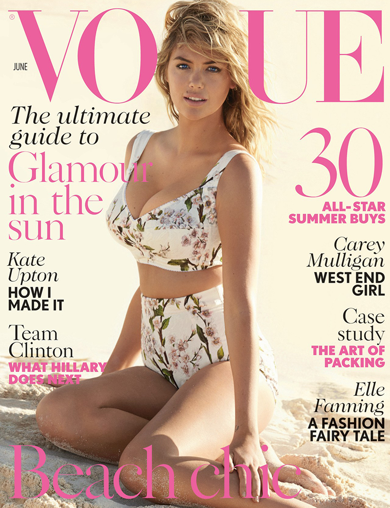kate upton vogue uk 2014 cover Retro Swim! 11 Vintage Inspired Swimsuit Fashion Shoots