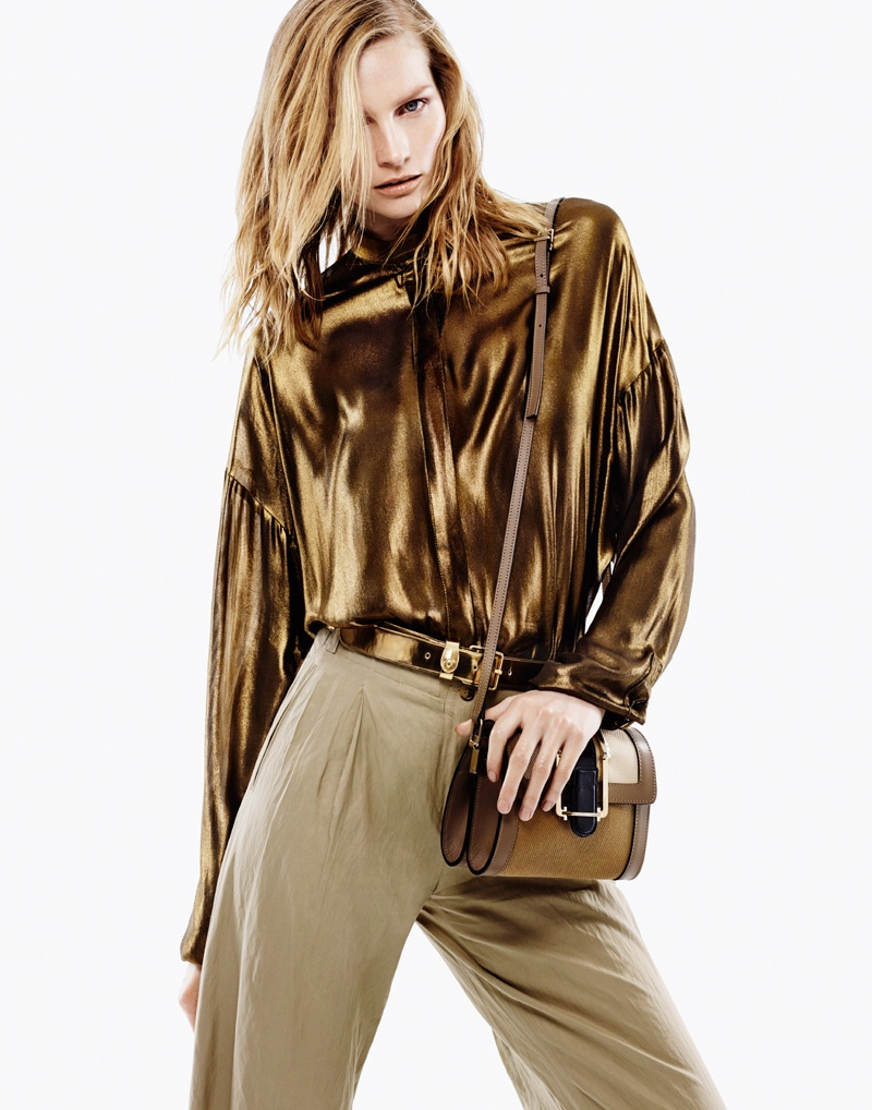 katrin thormann 2014 6 Stay Golden: Katrin Thormann in Metallics for Bazaar Germany by Jason Kim