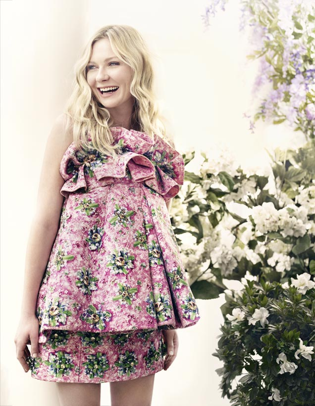 kirsten dunst bazaar uk1 Kirsten Dunst Tells Bazaar UK That a Woman Needs to be a Woman