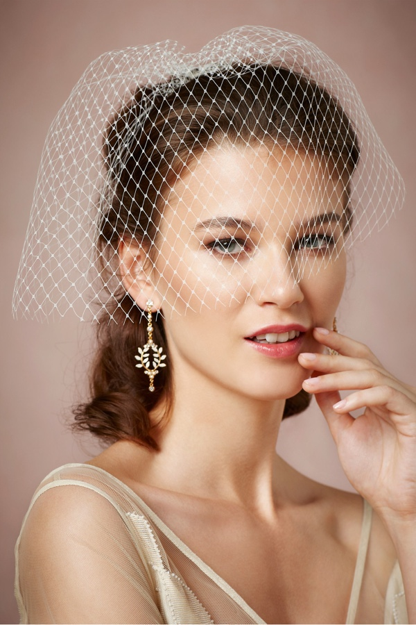 lady luck blusher 7 Amazing Bridal Veils & Hair Accessories for Wedding Glamour