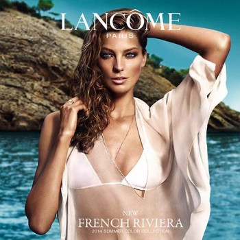 Daria Werbowy Sizzles for Lancome Summer 2014 French Riviera Line