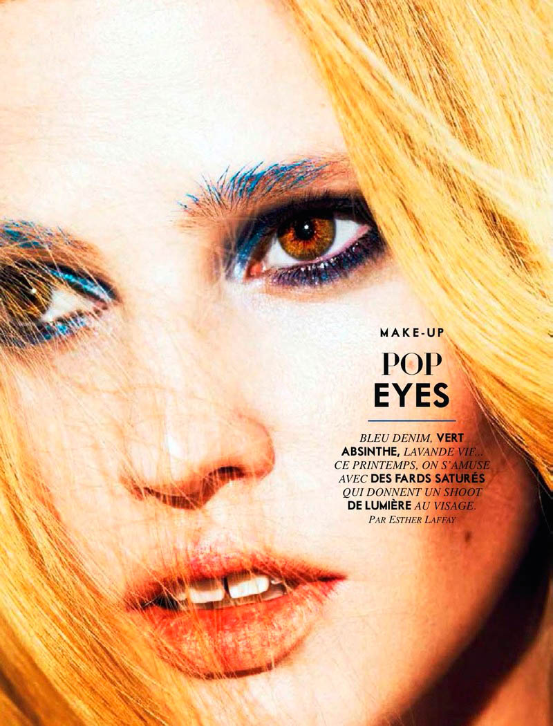 lara stone 2014 pictures7 Lara Stone Models Spring Beauty for Nico in Glamour France