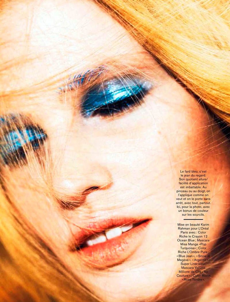 lara stone 2014 pictures8 Lara Stone Models Spring Beauty for Nico in Glamour France