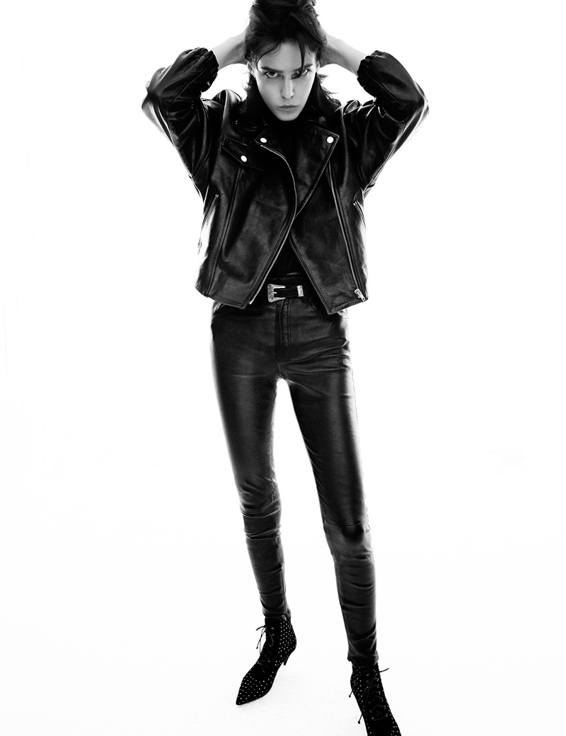 leather greg kadel8 Leather Girls: Devon Windsor + Zlata Mangafic for Vogue Germany by Greg Kadel