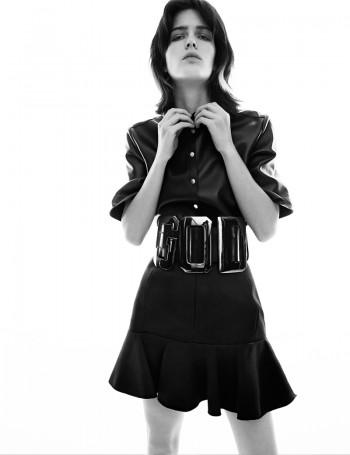 Leather Girls: Devon Windsor + Zlata Mangafic for Vogue Germany by Greg Kadel