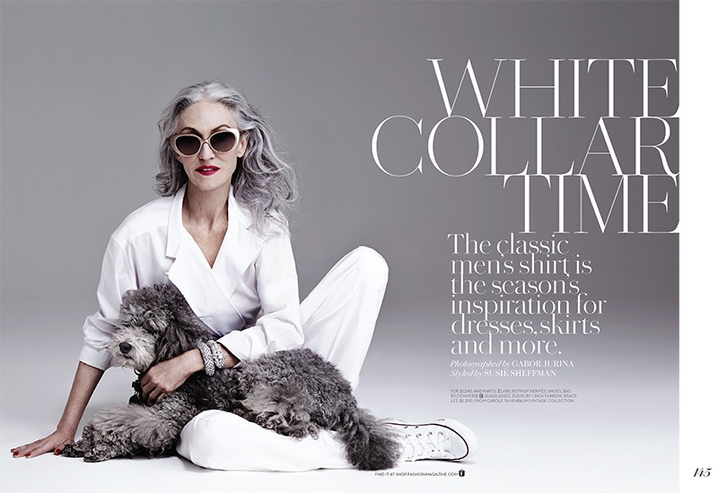 linda rodin photos1 At 65, Linda Rodin Models for FASHION Shoot by Gabor Jurina