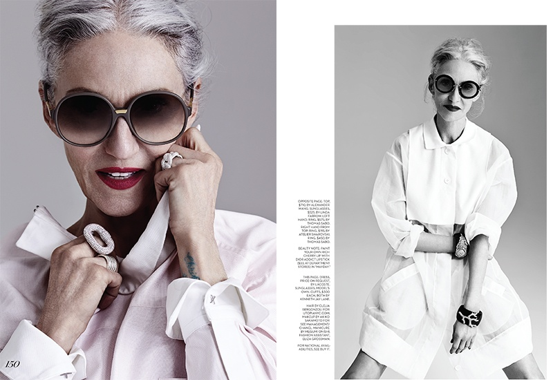 linda rodin photos4 At 65, Linda Rodin Models for FASHION Shoot by Gabor Jurina