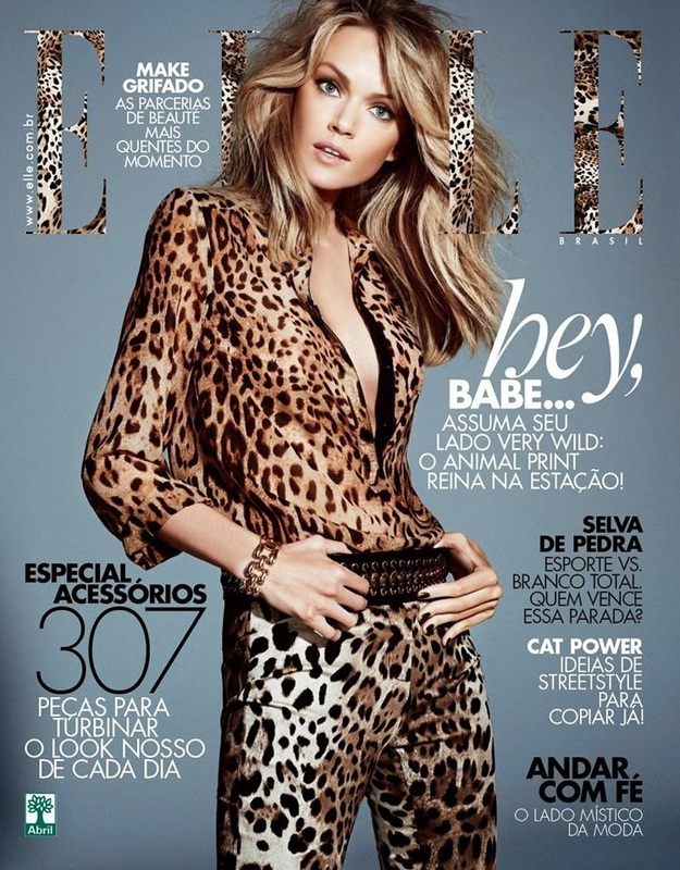 lindsay ellingson elle brazil cover Lindsay Ellingson Gets Wild for Elle Brazil April 2014 Cover