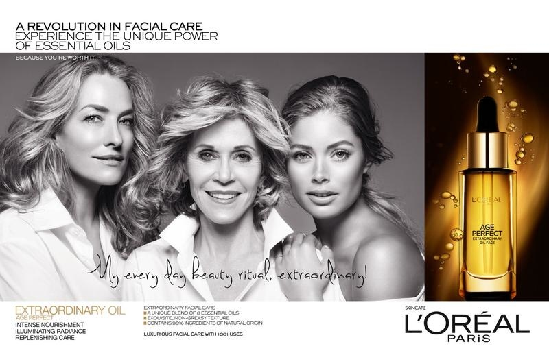 loreal age perfect campaign1 Jane Fonda, Doutzen Kroes + Tatjana Patitz Prove Beauty is Ageless in New L'Oreal Ad