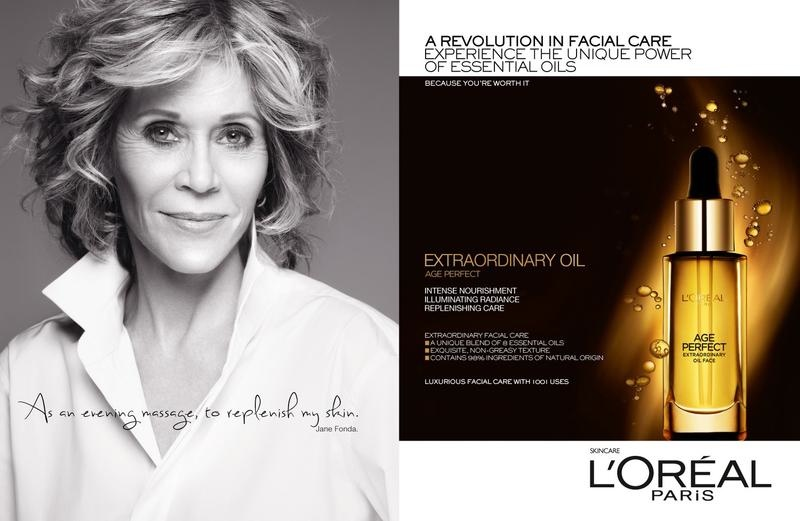 loreal age perfect campaign2 Jane Fonda, Doutzen Kroes + Tatjana Patitz Prove Beauty is Ageless in New L'Oreal Ad