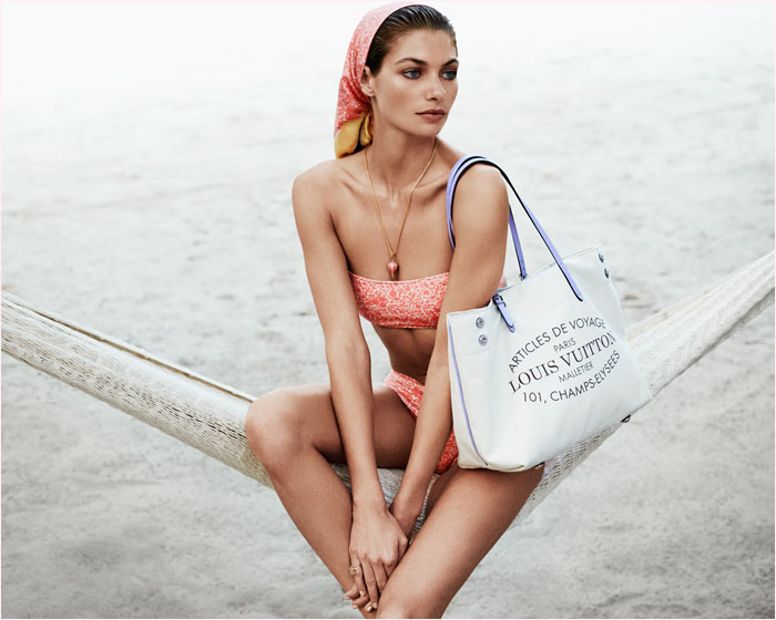 louis vuitton summer 2014 catalogue4 Jessica Hart is a Sun Seeker in Louis Vuitton Summer 14 Catalogue