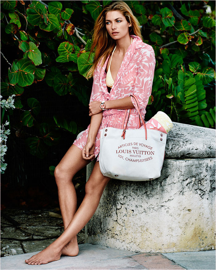 louis vuitton summer 2014 catalogue5 Jessica Hart is a Sun Seeker in Louis Vuitton Summer 14 Catalogue