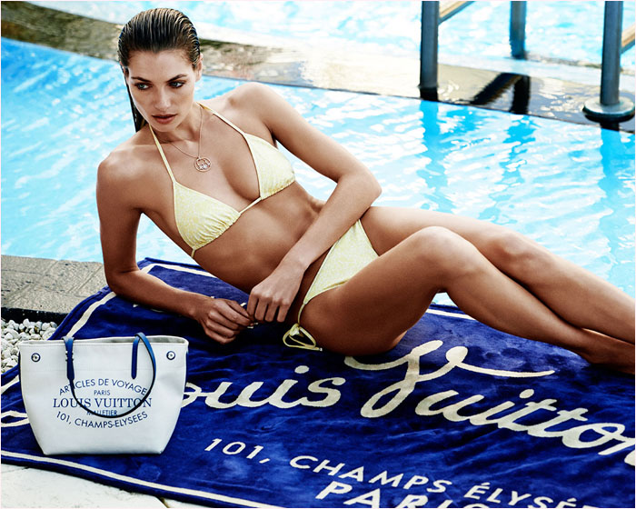 louis vuitton summer 2014 catalogue6 Jessica Hart is a Sun Seeker in Louis Vuitton Summer 14 Catalogue