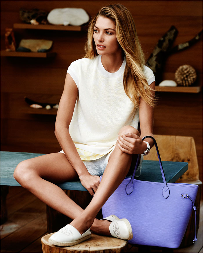 louis vuitton summer 2014 catalogue8 Jessica Hart is a Sun Seeker in Louis Vuitton Summer 14 Catalogue