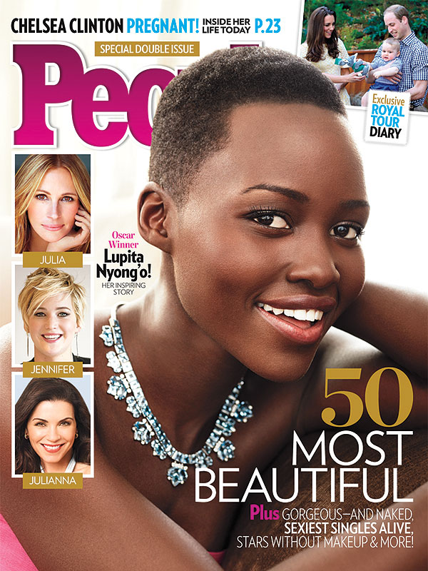 lupita nyongo people most beauty cover Lupita Nyongo Named PEOPLEs Most Beautiful Person (Cover)