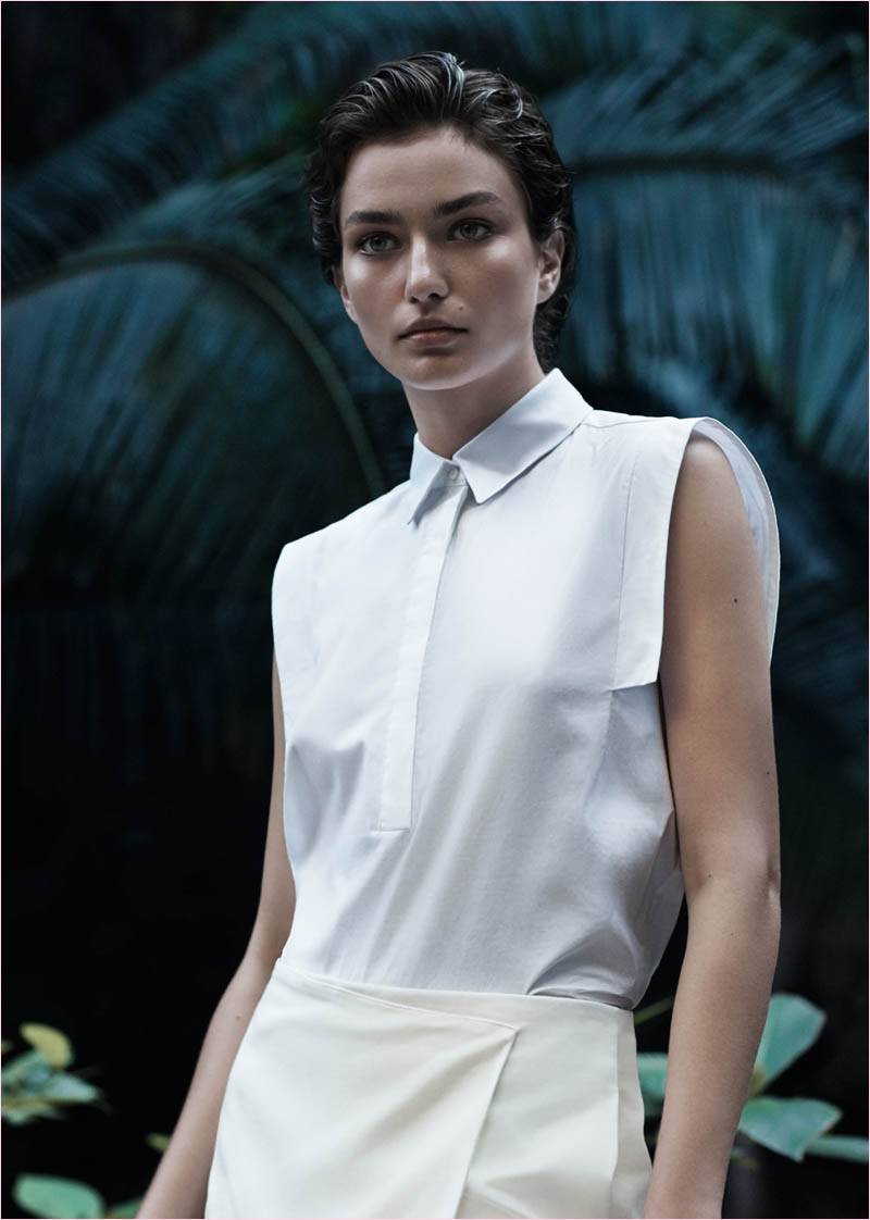 mango summer 2014 catalogue19 Andreea Diaconu Relaxes in Mango Summer 14 Catalogue