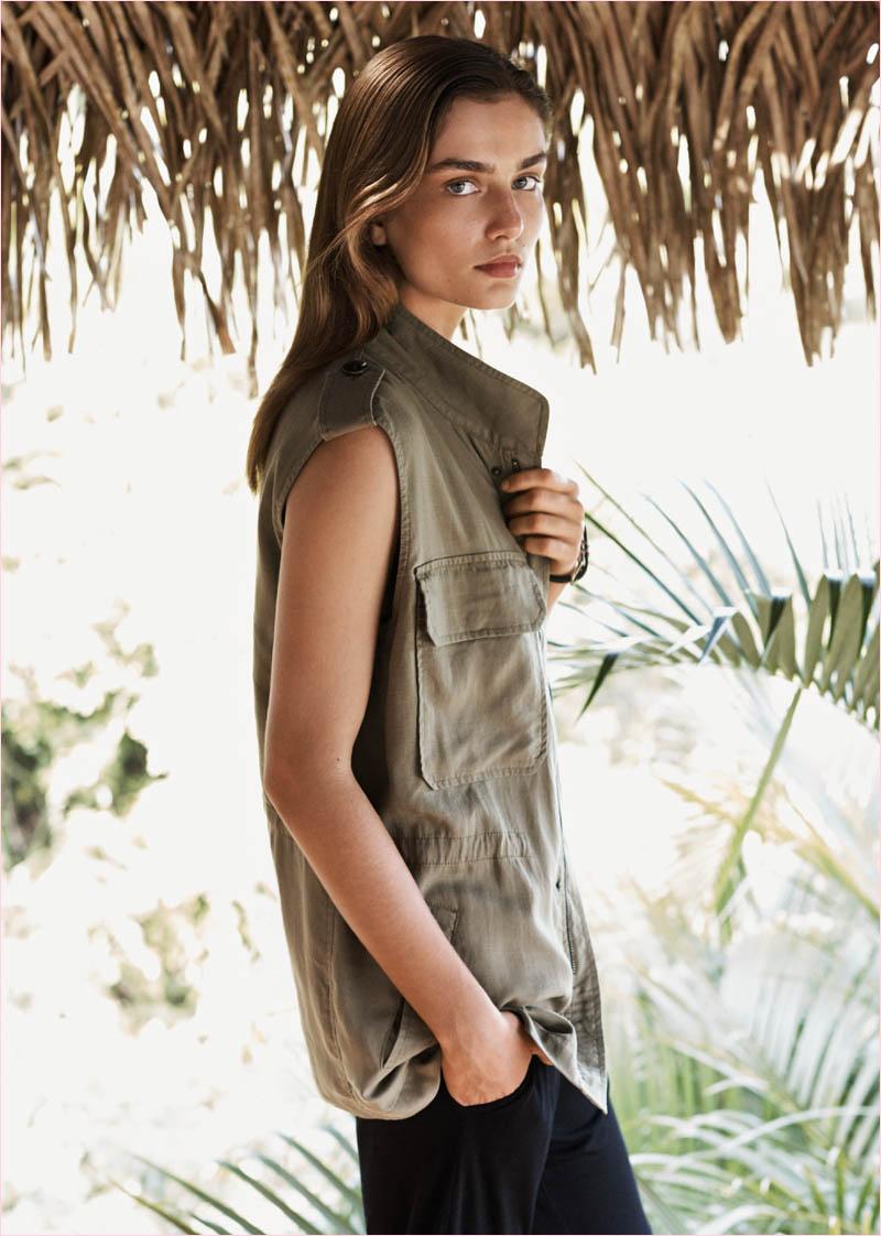 mango summer 2014 catalogue2 Andreea Diaconu Relaxes in Mango Summer 14 Catalogue
