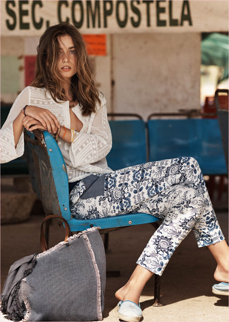 mango summer 2014 catalogue24 Andreea Diaconu Relaxes in Mango Summer 14 Catalogue