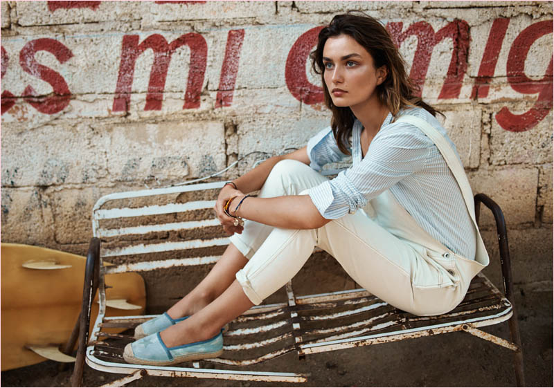 mango summer 2014 catalogue28 Andreea Diaconu Relaxes in Mango Summer 14 Catalogue