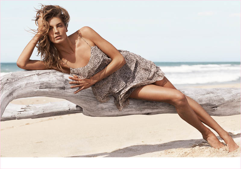mango summer 2014 daria werbowy photos5 Daria Werbowy Hits the Beach in Mangos Summer 2014 Catalogue