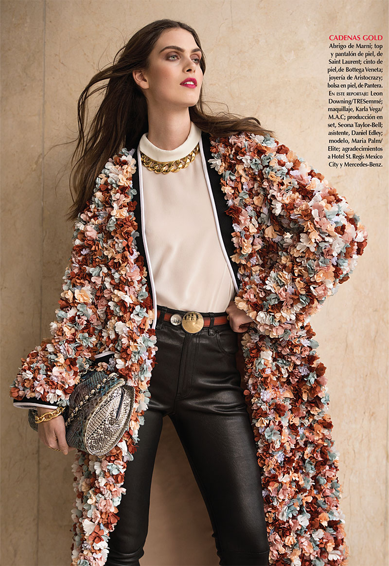 maria palm model8 Maria Palm Wears Sophisticated Spring Looks for Vogue Mexico Feature