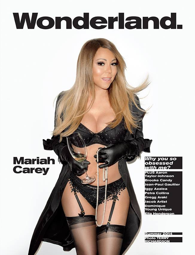 mariah carey wonderland cover richardson Mariah Carey Wears Lingerie, Poses for Terry Richardson on Wonderland Cover