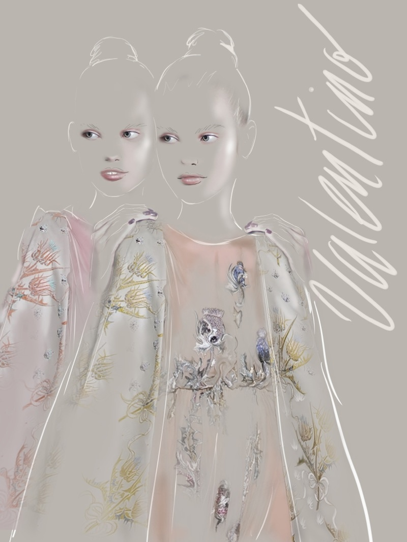 Valentino Illustration by Martine Brand