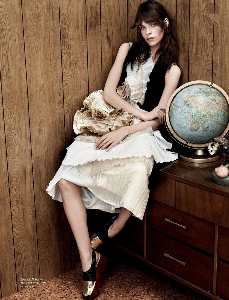 Meghan Collison Models Spring Style for Oyster Shoot by Bjarne Jonasson