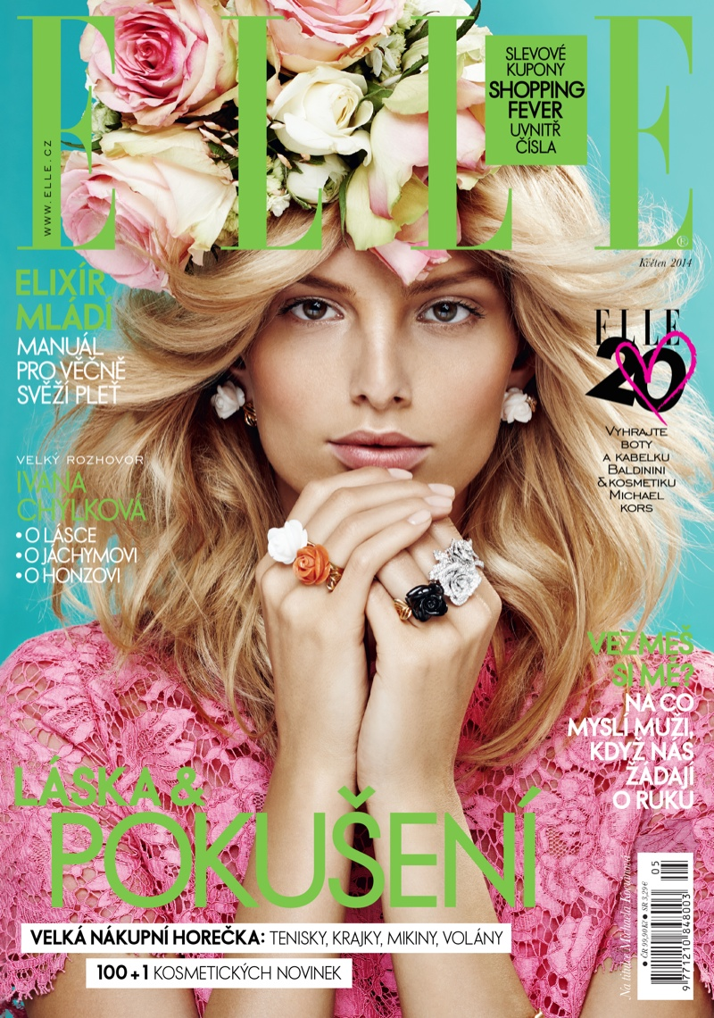 michaela flower beauty 1 Spring Flowers: Michaela Kocianova Charms for Elle Czech by Branislav Simoncik