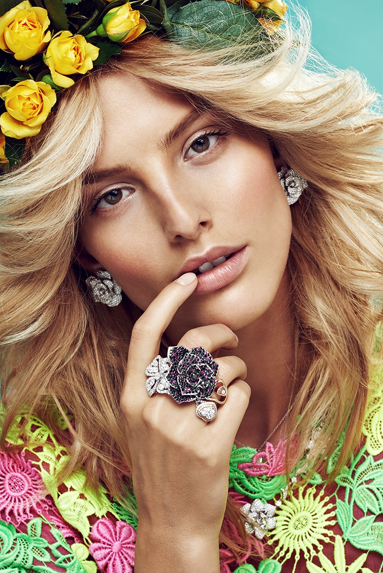 michaela flower beauty 2 Spring Flowers: Michaela Kocianova Charms for Elle Czech by Branislav Simoncik