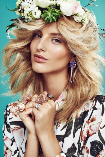 Spring Flowers: Michaela Kocianova Charms for Elle Czech by Branislav Simoncik
