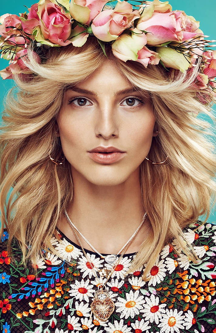 michaela flower beauty 4 Spring Flowers: Michaela Kocianova Charms for Elle Czech by Branislav Simoncik
