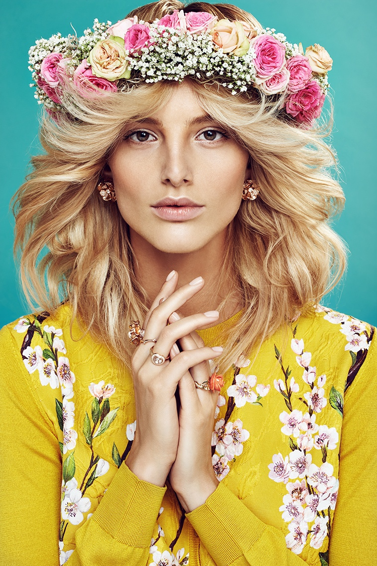 michaela flower beauty 6 Spring Flowers: Michaela Kocianova Charms for Elle Czech by Branislav Simoncik