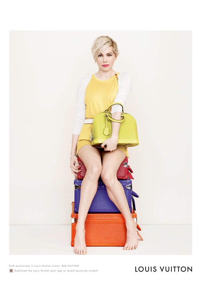 michelle williams louis vuitton 2014 photos1 Michelle Williams Re Ups with Louis Vuitton for New Campaign