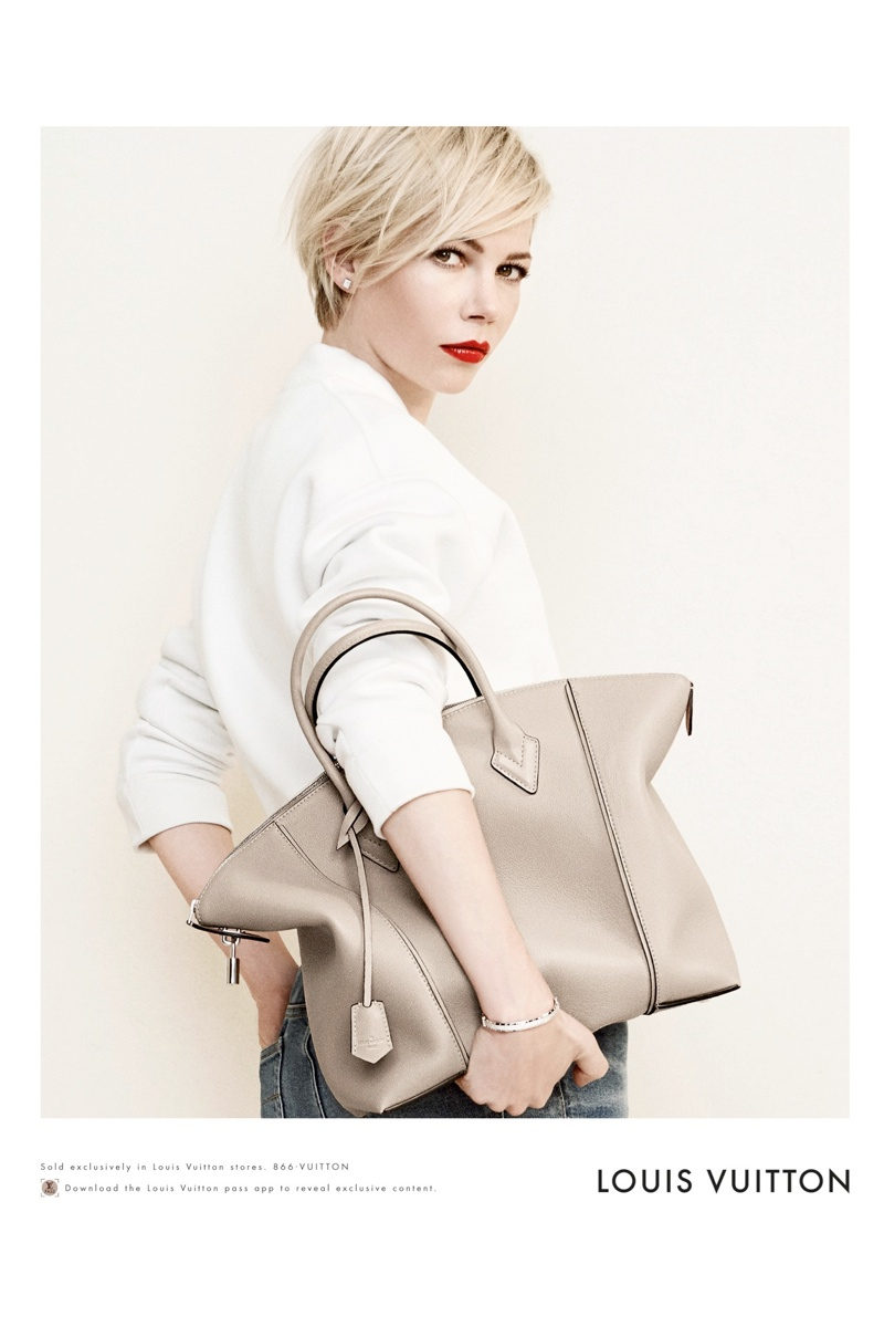 michelle williams louis vuitton 2014 photos2 Michelle Williams Re Ups with Louis Vuitton for New Campaign
