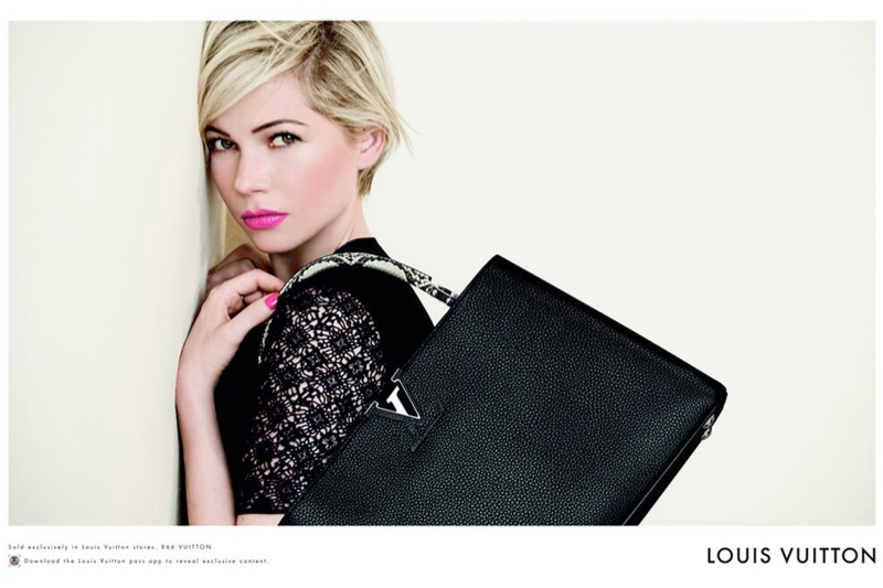 michelle williams louis vuitton 2014 photos3 Michelle Williams Re Ups with Louis Vuitton for New Campaign