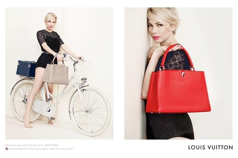 michelle williams louis vuitton 2014 photos5 Michelle Williams Re Ups with Louis Vuitton for New Campaign