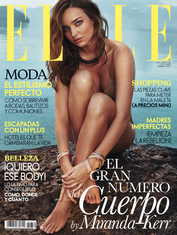 MIRANDA FEVER: Which cover featuring Miranda Kerr do you prefer? Image: Elle Spain May 2014 Cover