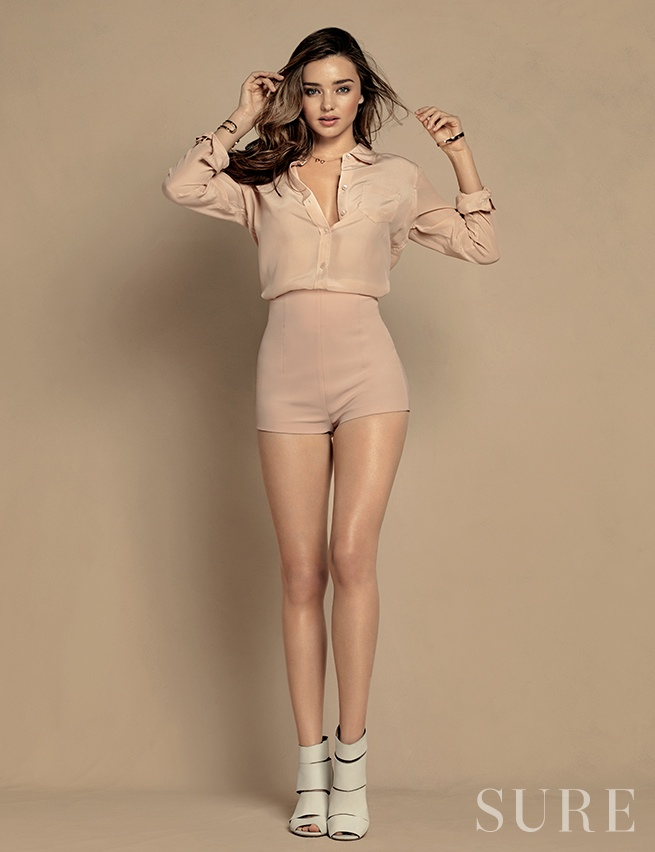 miranda kerr korea shoot5 Miranda Kerr Stuns in Neutrals for Sure Korea Photo Shoot