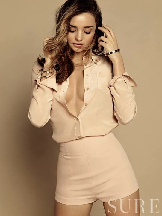 miranda kerr korea shoot7 Miranda Kerr Stuns in Neutrals for Sure Korea Photo Shoot