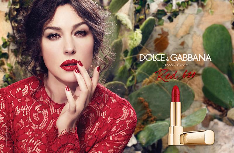 monica bellucci dolce gabbana classic cream lipstick Monica Bellucci Stuns in Dolce & Gabbana Classic Cream Lipstick Ad