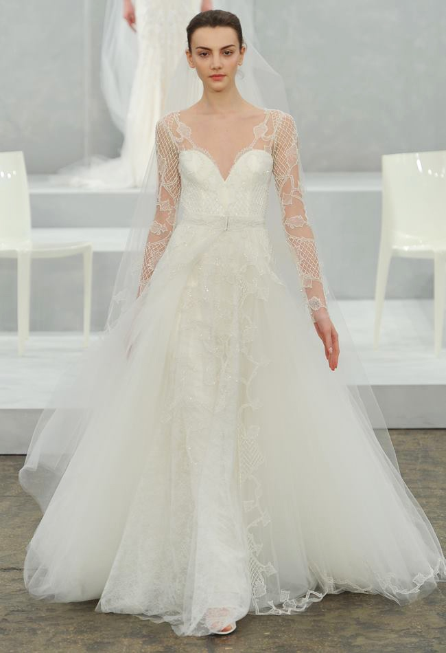 Monique lhuillier bridal spring 2015 wedding dresses monique lhuillier spring 2015 bridal photos7 junglespirit Image collections