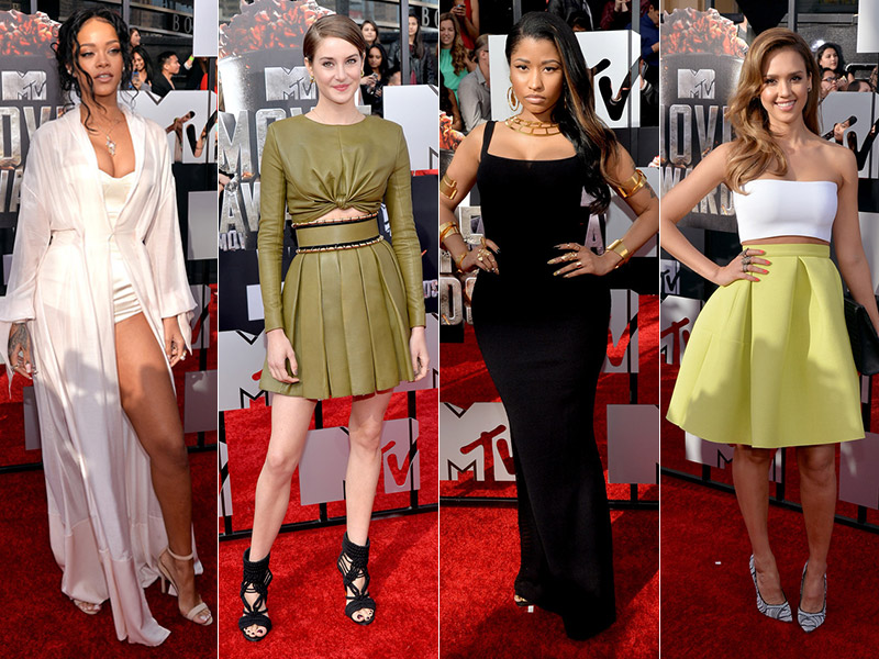 mtv 2014 movie awards style roundup 2014 MTV Movie Awards Red Carpet Style