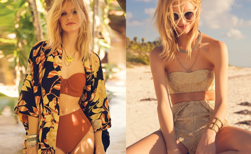 nadine leopold photos3 Nadine Leopold Hits the Beach for Foams May June Issue