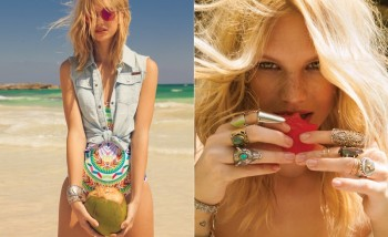 Nadine Leopold Hits the Beach for Foam's May-June Issue