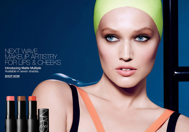 Toni Garrn Fronts NARS Cosmetics Matte Multiple Collection